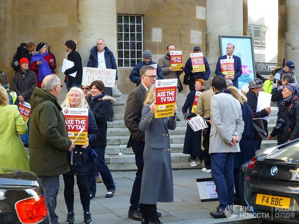 Граждане Лондона провели митинг против предвзятости компании ВВС