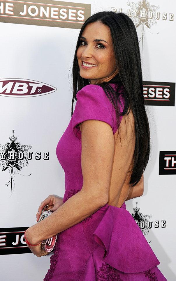Актриса Деми Мур на премьере фильма Семейка Джонсов в Голливуде. 2010 год