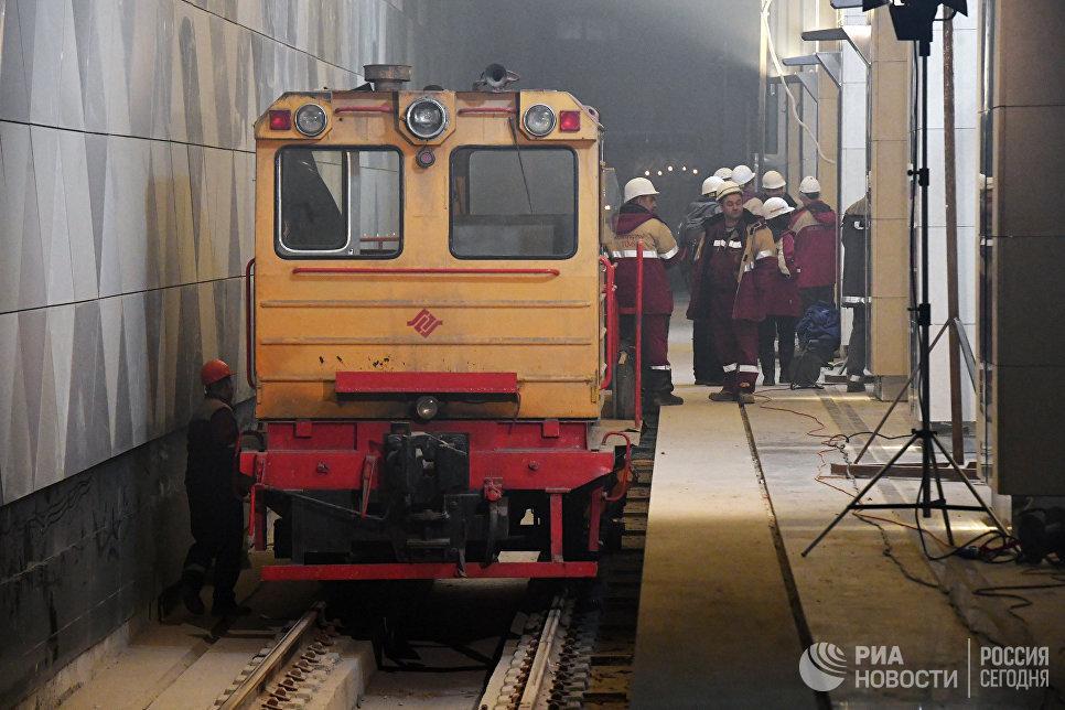 Строящаяся станция Селигерская