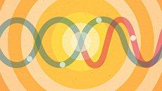 Так художник представил себе взаимодействие фотонов с искусственным атомом
