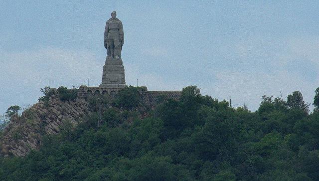 Монумент в память советских воинов-освободителей Алеша на Холме освобождения в Пловдиве Болгария. Архивное