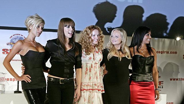 Участницы поп-группы Spice Girls во время воссоединения в 2007 году