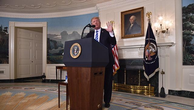 Президент США Дональд Трамп на пресс-конференции в Белом доме. Архивное фото