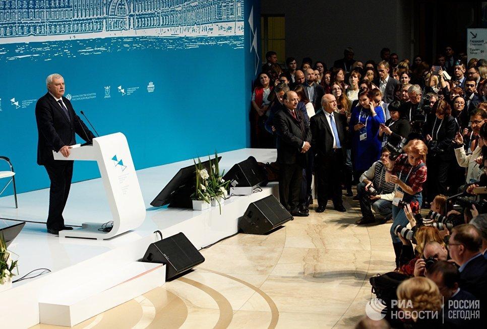 Губернатор Санкт-Петербурга Георгий Полтавченко на открытии Санкт-Петербургского международного культурного форума. 16 ноября 2017