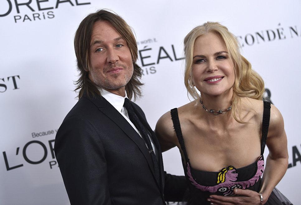 Кит Урбан и Николь Кидман на церемонии вручения премий Glamour's Women of the Year