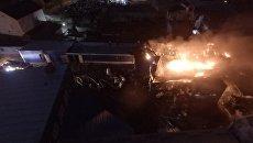 Пожар на складе лакокрасочных изделий в Дзержинском районе г.Волгограда. 16 ноября 2017