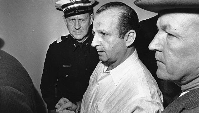Джек Руби в городской тюрьме Далласа, Техас. 24 ноября 1963