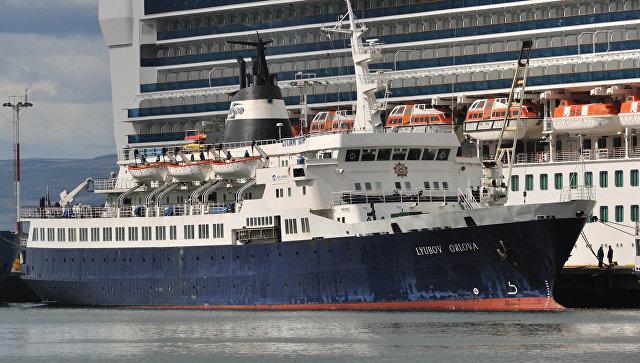 Российское круизное судно Любовь Орлова. Архивное фото