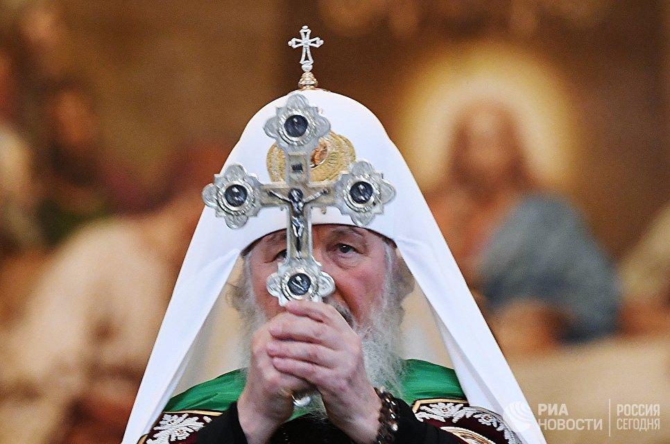 Патриарх Московский и всея Руси Кирилл проводит литургию в храме Христа Спасителя в свой день рождения