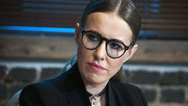 Телеведущая Ксения Собчак во время экспертной дискуссии в Москве. 21 ноября 2017