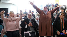 Реакция женщин на оглашение приговора сербскому генералу Ратко Младичу. Босния и Герцеговина, 22 ноября 2017