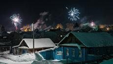 Празднование Нового года в городах России