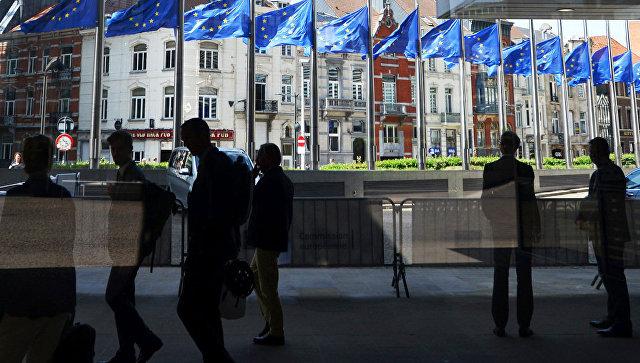 Флаги ЕС в Европейском квартале в Брюсселе. Архивное фото