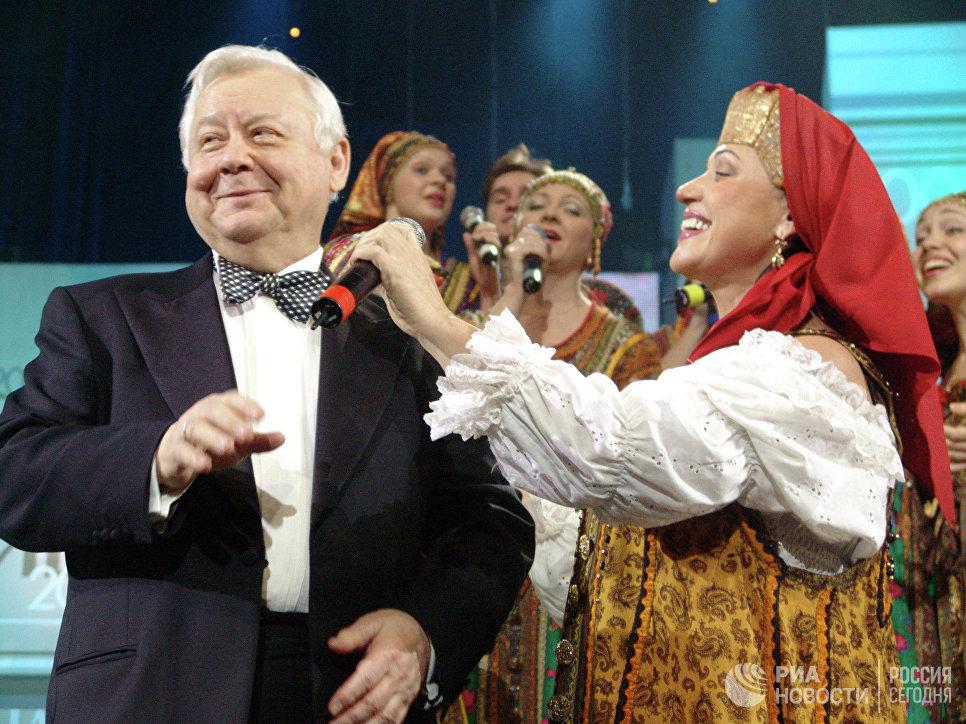Олег Табаков и Надежда Бабкина