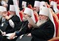 Православные архиереи на открытии Архиерейского собора Русской православной церкви в храме Христа Спасителя в Москве. 29 ноября 2017