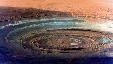 Снимок знаменитой структуры Ришат или Глаз Сахары снятый с Международной космической станции