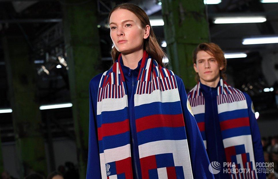 Модели демонстрируют одежду из экипировки Олимпийской команды и casual-коллекции бренда ZASPORT в Москве