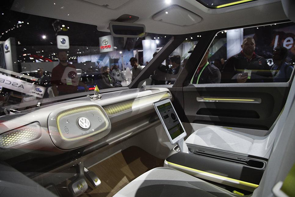 Volkswagen I.D. Buzz на автосалоне в Лос-Анджелесе