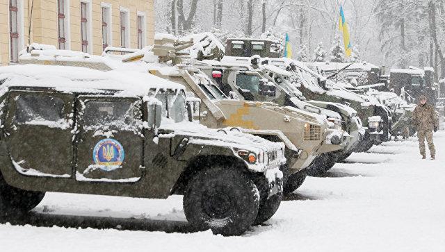 Образцы военной техники ВС Украины на выставке по случаю двадцать шестой годовщины Вооруженных Сил Украины. Архивное фото