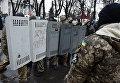 Сторонники экс-президента Грузии, бывшего губернатора Одесской области Михаила Саакашвили в палаточном городке у здания Верховной Рады Украины в Киеве
