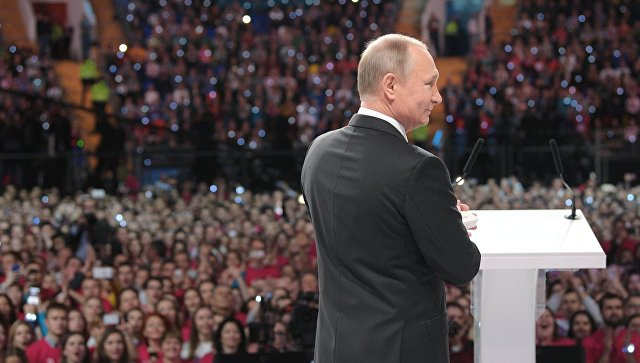 Президент РФ Владимир Путин на церемонии вручения премии Доброволец России - 2017 в Москве. 6 декабря 2017