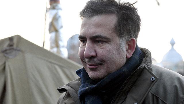 Михаил Саакашвили у здания Верховной рады в Киеве. 6 декабря 2017