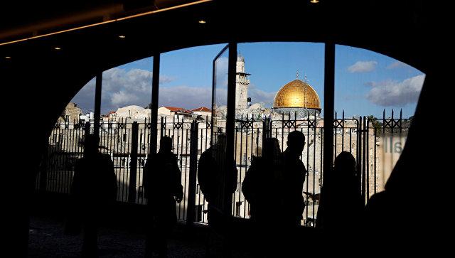 Вид на старый город Иерусалима. 7 декабря 2017