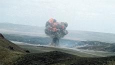 Уничтожение ракет средней и меньшей дальности по договору между СССР и США. Архивное фото