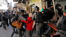 Столкновения израильской полиции и протестующих мусульман начались в Старом городе Иерусалима