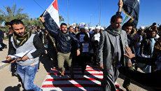 Протест против решения США по Иерусалиму в Наджафе, Ирак. 8 декабря 2017