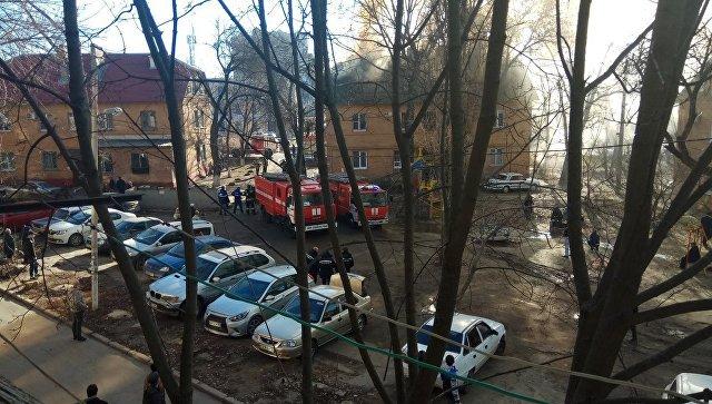 Пожар в Ростове-на-Дону. 10 декабря 2017