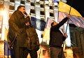 Михаил Саакашвили неподалеку от площади Независимости в Киеве. 11 декабря 2017