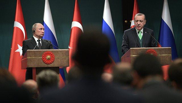 Источник: Путин и Эрдоган обсудили по телефону ситуацию в Африне и Идлибе