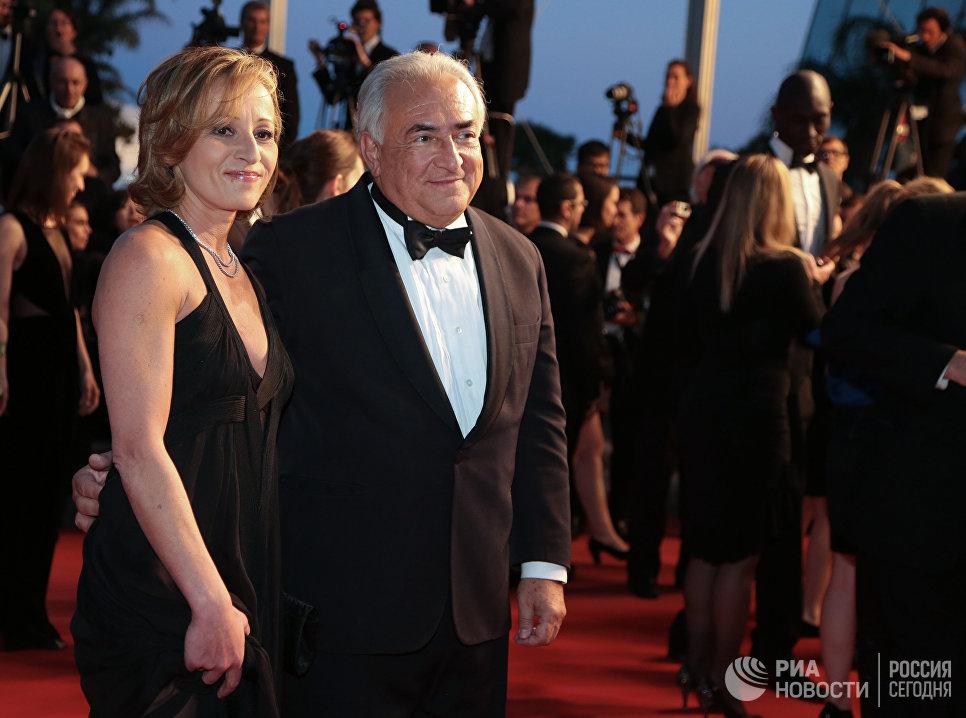 Бывший глава Международного валютного фонда Доминик Стросс-Кан и Мириам Л'Ауффир
