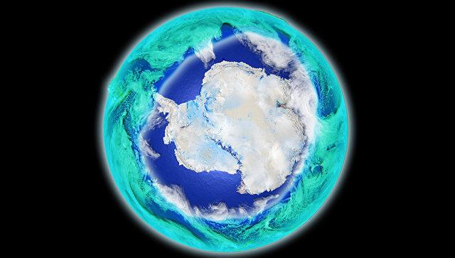 Так художник представил себе Антарктическую озоновую дыру