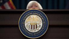 Герб Федеральной резервной системы США. Архивное фото
