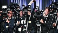 Журналисты с камерами. Архивное фото
