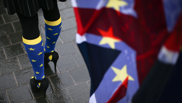Участница протеста против Brexit. Архивное фото