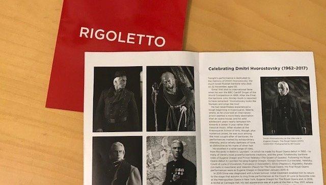 """Ковент-гарден посвятил Хворостовскому премьеру оперы """"Риголетто"""""""