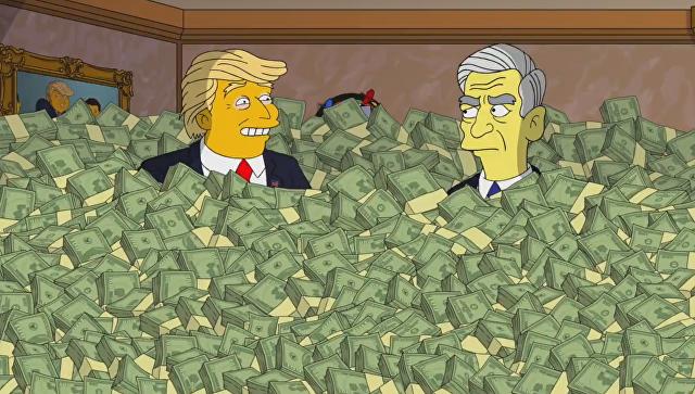 Сериал «Симпсоны» продемонстрировал отрывок с«русским делом» Трампа