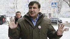 Михаил Саакашвили перед посещением Генеральной прокуратуры в Киеве. Архивное фото