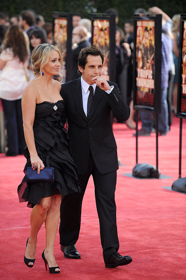 Американский актер Бен Стиллер с супругой Кристин Тейлор