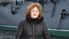 Кандидат в президенты РФ от партии РОТ Фронт крановщица металлургического завода Наталя Лисицына. Архивное фото