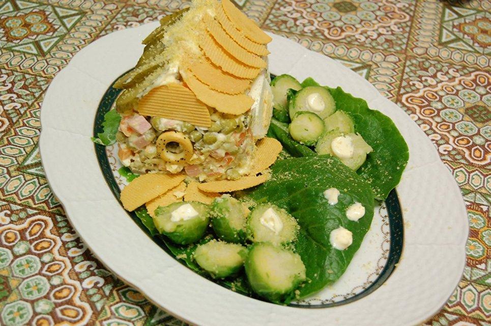 Дом-салат с благоустроенной территорией