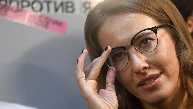 Телеведущая Ксения Собчак на открытии своего регионального предвыборного штаба в Казани