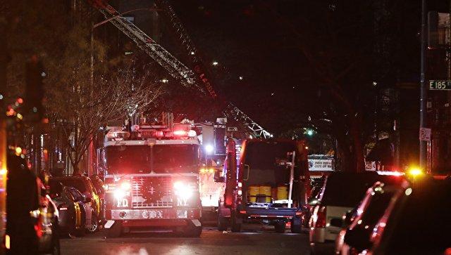 Более 10 человек пострадали врезультате пожара вНью-Йорке