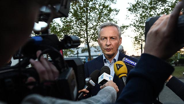 Министр экономики Франции ожидает, когда сРФ снимут санкции