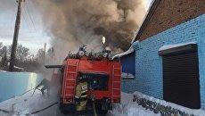 Пожар на обувном производстве в Новосибирской области. 4 января 2018
