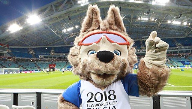 Официальный талисман чемпионата мира по футболу 2018 волк Забивака. архивное фото
