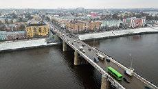 Мост через реку Волга в городе Твери. Архивное фото